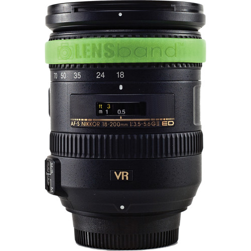 LENSband Lens Band MINI (Glow-in-the-Dark Green)