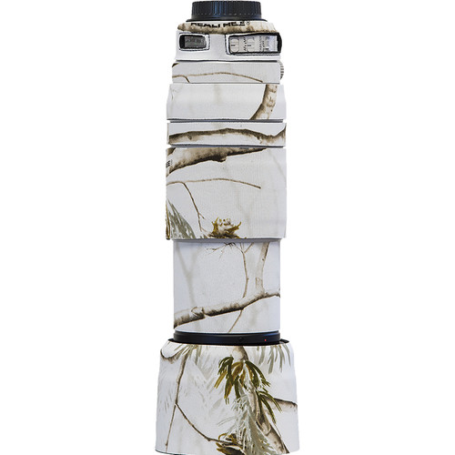 LensCoat Lens Cover for Canon 100-400mm f/4.5-5.6 IS II (Realtree AP Snow Camo)