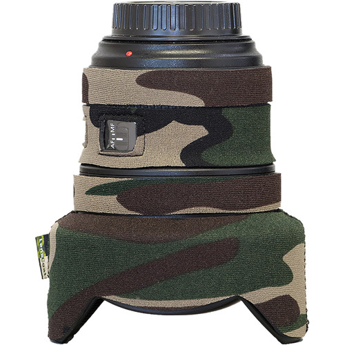 LensCoat Lens Cover for Canon 11-24mm f/4 (Forest Green Camo)