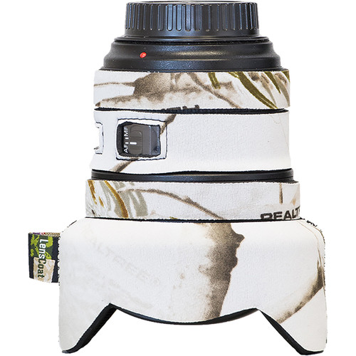 LensCoat Lens Cover for Canon 11-24mm f/4 (Real Tree AP Snow)