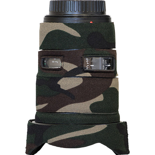 LensCoat Lens Cover for Canon EF 16-35mm f/4L IS USM (Forest Green Camo)