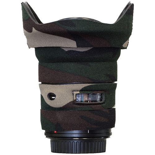 LensCoat Telephoto Lens Cover for Canon 17-40 f/4 (Forest Green Camo)