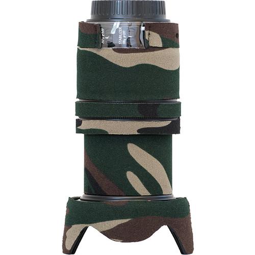 LensCoat Lens Cover for Canon EF-S 18-135mm IS STM Lens (Forest Green Camo)