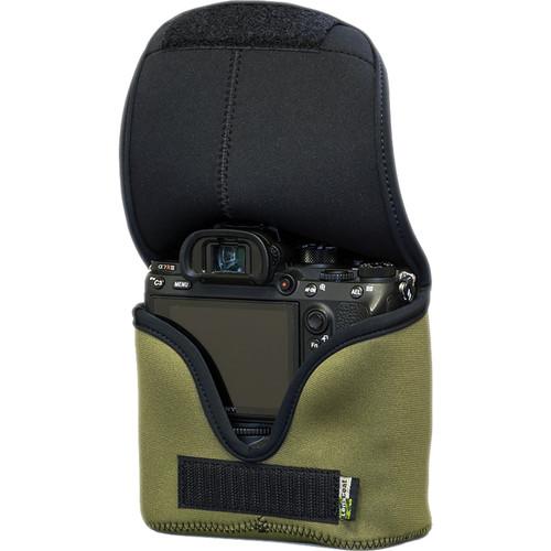 LensCoat BodyBag Mwith Grip for Sony Alpha a7 III, a7R III, a7R IV, a9, a9II (Green)