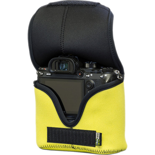 LensCoat BodyBag M for Sony Alpha a7 III, a7R III, a9 (Yellow)