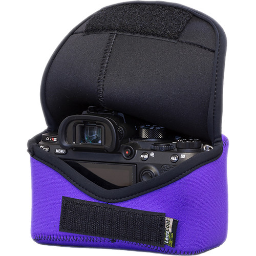 LensCoat BodyBag M for Sony Alpha a7 III, a7R III, a9 (Purple)