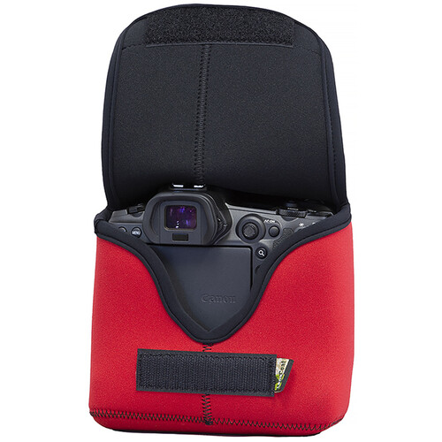 LensCoat BodyBag R Camera Cover for Canon R/R5/R6 with Optional Grip (Red)