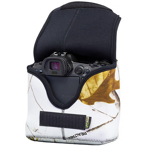 LensCoat BodyBag R Camera Cover for Canon R/R5/R6 with Optional Grip (RealTree AP Snow Camo)