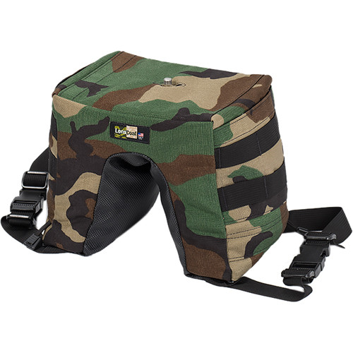 LensCoat LensSack Pro Jr Beanbag Support (Forest Green Camo)