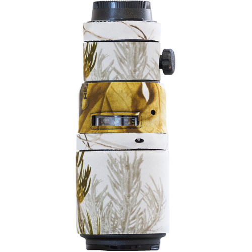 LensCoat Lens Cover for the Nikon 200mm f/4 AF-D Micro IF-ED Lens (Realtree AP Snow)