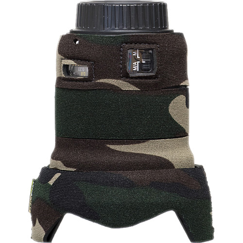 LensCoat Telephoto Lens Cover for Nikon 24mm f/1.8G ED AF-S Wide Angle Lens (Forest Green Camo)