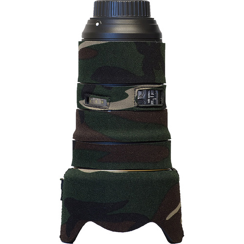 LensCoat Lens Cover for the Nikon 24-70mm f/2.8E VR (Forest Green Camo)