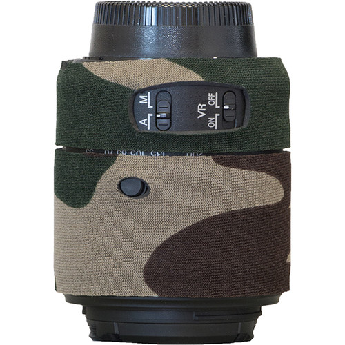 LensCoat Lens Cover for Nikon 55 - 200mm f/4-5.6 ED VR II Lens (Forest Green)