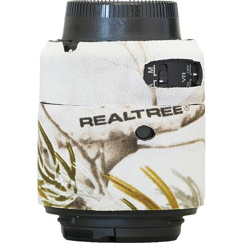 LensCoat Lens Cover for Nikon 55 - 200mm f/4-5.6 ED VR II Lens (Realtree AP Snow)