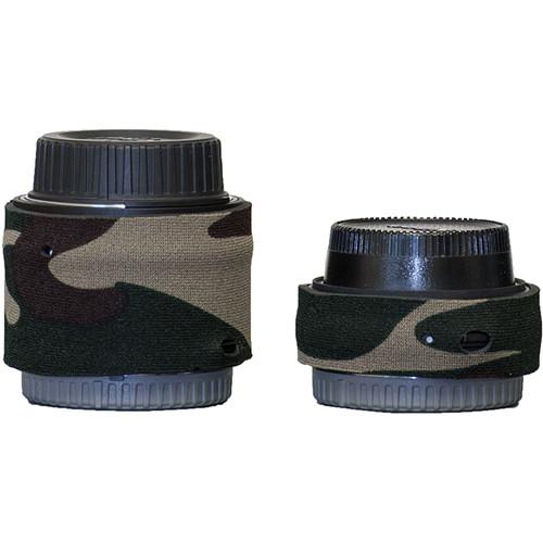 LensCoat Lens Cover for Nikon Teleconverter Set III (Forest Green Camo)