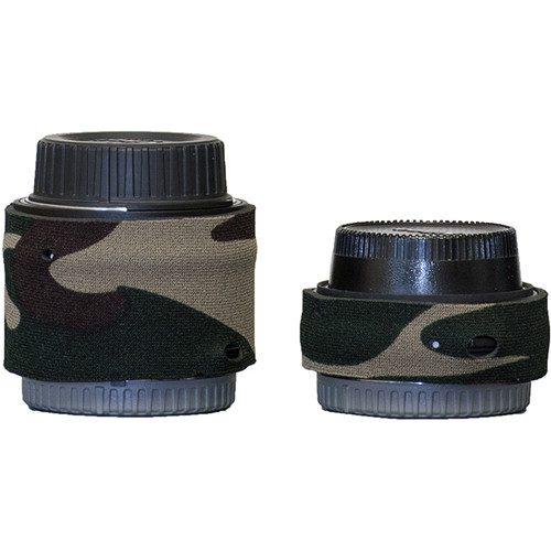 LensCoat Lens Cover for Nikon Teleconverter Set III (Forest Green Camo)