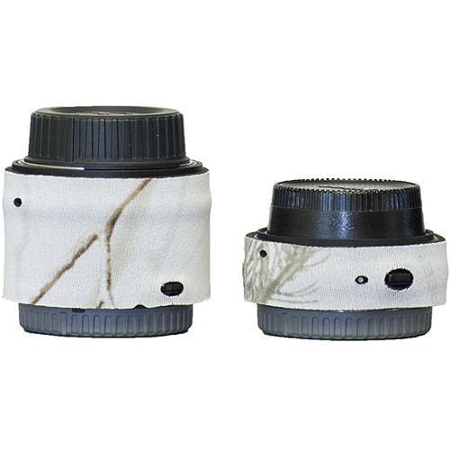 LensCoat Realtree AP Snow Nikon Teleconverter Cover Set for Nikon 1.4x TC-14E III and 2.0x TC-20E III Lens Extenders