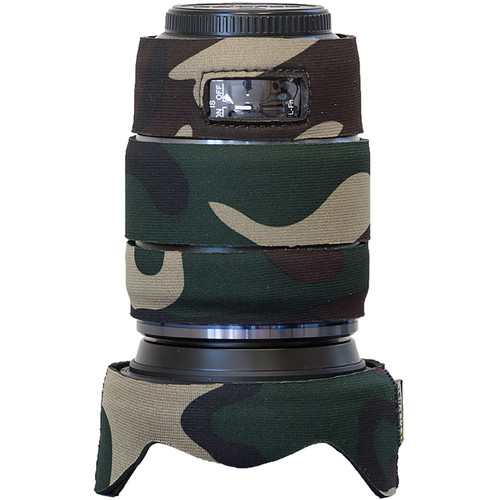 LensCoat Lens Cover for Olympus M.Zuiko 12-100mm f/4 Pro Lens (Forest Green Camo)