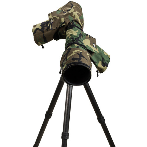 LensCoat RainCoat 2 Pro Camera Cover (Forest Green Camo)