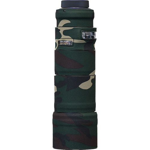 LensCoat Telephoto Lens Cover for Sigma 150mm Macro f2.8 EX DG OS HSM APO (Forest Green Camo)