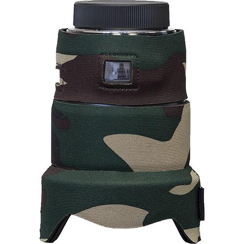 LensCoat Lens Cover for the Sigma 20mm f/1.4 DG HSM Art Lens (forest green camo)