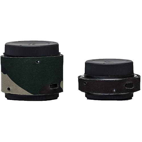 LensCoat Lens Covers for the Sigma Teleconverter Set (Forest Green Camo)