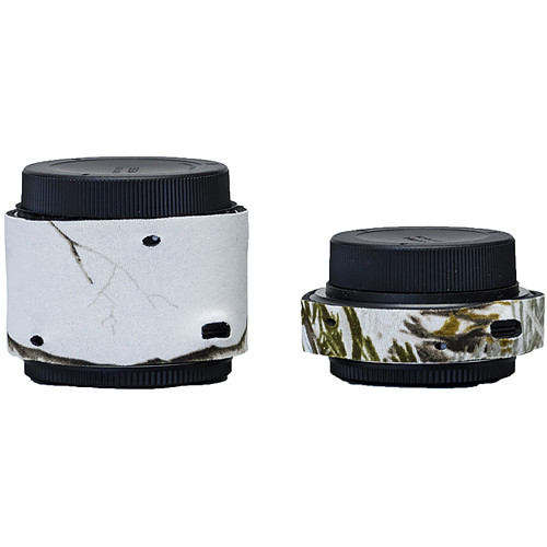 LensCoat Lens Covers for the Sigma Teleconverter Set (Realtree  AP Snow)