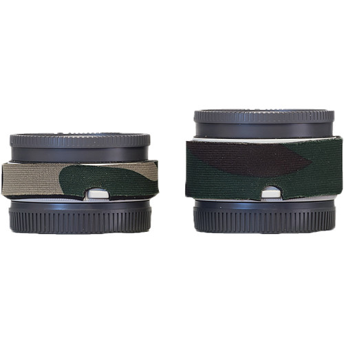 LensCoat Lens Cover Set for Sony FE 1.4x and 2.x Teleconverters (Forest Green Camo)