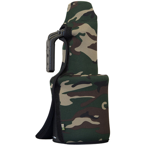 LensCoat TravelCoat for Nikon 600mm f/4E FL ED VR Lens (with Hood Attached, Forest Green Camo)