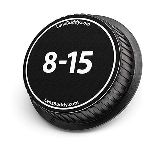 LenzBuddy 8-15mm Rear Lens Cap (Black & White)