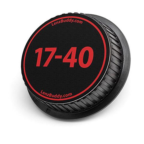 LenzBuddy 17-40mm Rear Lens Cap (Black & Red)