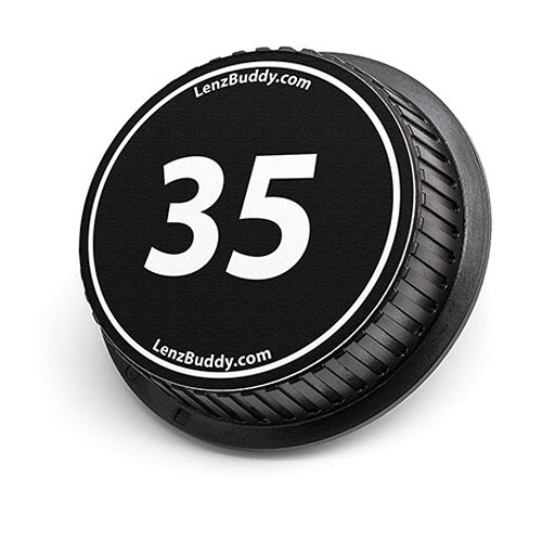LenzBuddy 35mm Rear Lens Cap (Black & White)