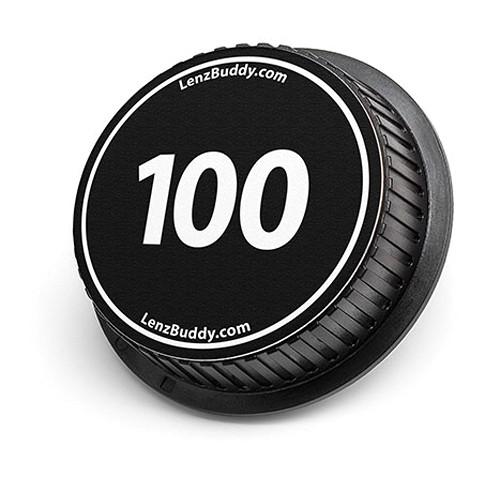 LenzBuddy 100mm Rear Lens Cap (Black & White)