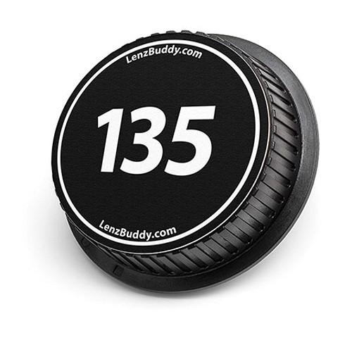 LenzBuddy 135mm Rear Lens Cap (Black & White)