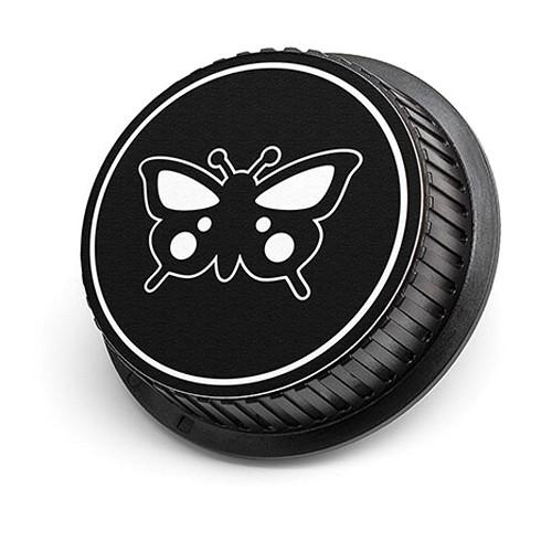 LenzBuddy Butterfly Rear Lens Cap for Canon (Black & White)