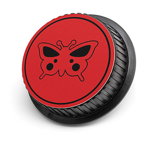 LenzBuddy Butterfly Rear Lens Cap for Canon (Red)