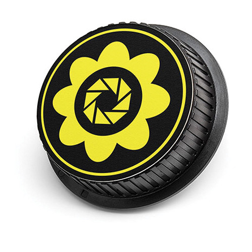 LenzBuddy Flower Rear Lens Cap for Canon (Yellow)