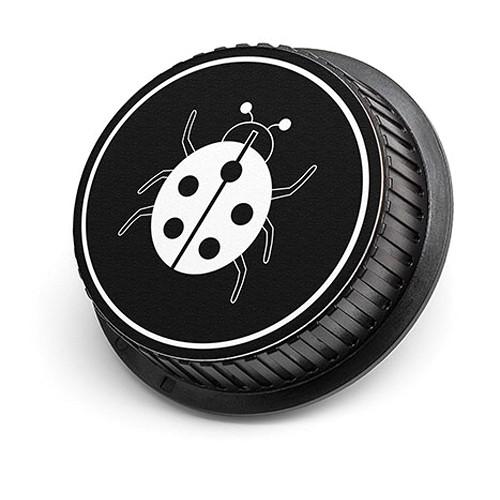 LenzBuddy Ladybug Rear Lens Cap for Canon Cameras (Black & White)