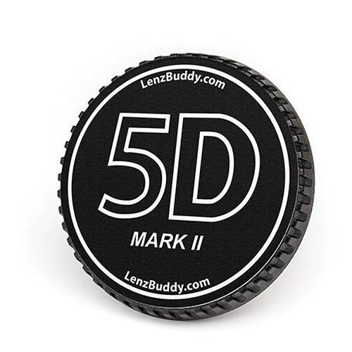 LenzBuddy Body Cap for Canon EF Mount Cameras (5D Mark II, Black/White)