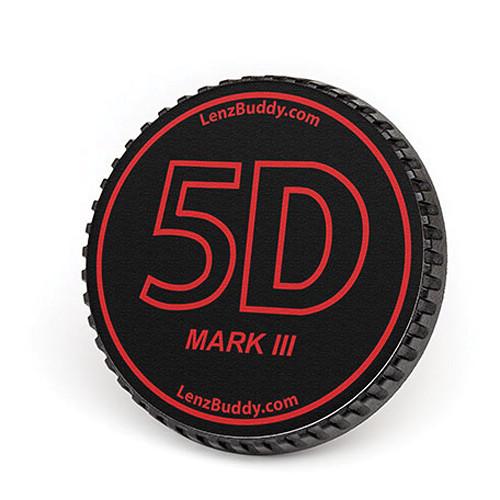LenzBuddy Body Cap for Canon EF Mount Cameras (5D Mark III, Black/Red)