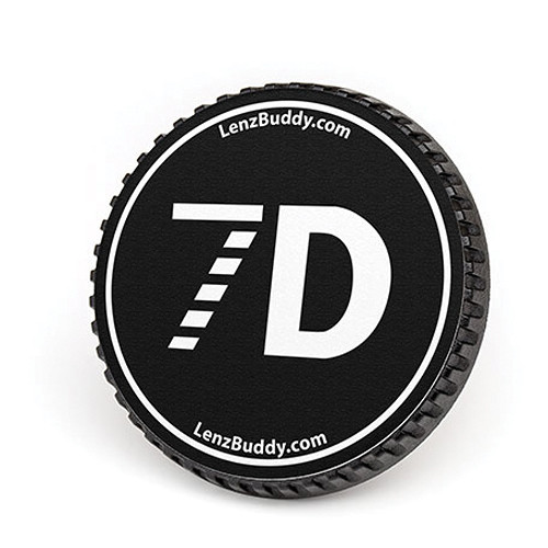 LenzBuddy Body Cap for Canon EF Mount Cameras (7D, Black/White)
