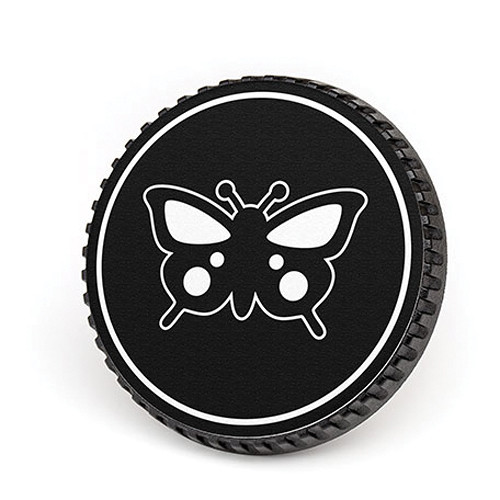 LenzBuddy Body Cap for Canon EF Mount Cameras (Butterfly, Black/White)