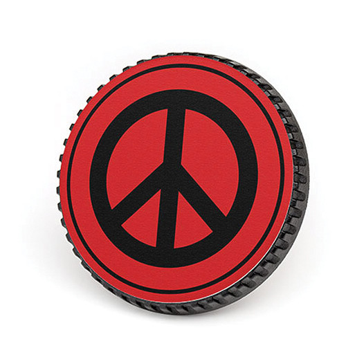 LenzBuddy Body Cap for Canon EF Mount Cameras (Peace Sign, Red)