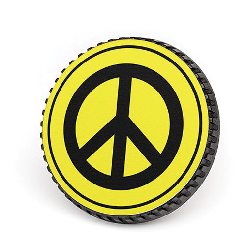 LenzBuddy Body Cap for Canon EF Mount Cameras (Peace Sign, Yellow)