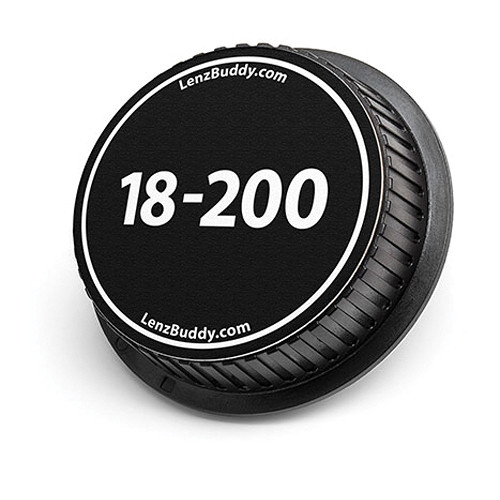 LenzBuddy 18-200mm Rear Lens Cap (Black & White)