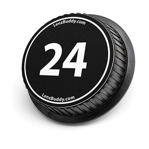 LenzBuddy 24mm Rear Lens Cap (Black & White)
