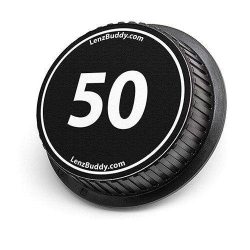 LenzBuddy 50mm Rear Lens Cap (Black & White)