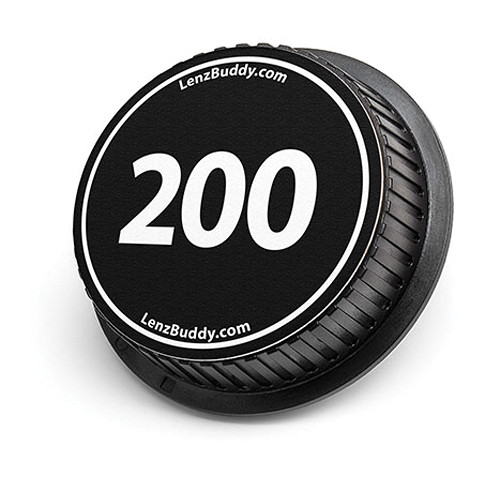 LenzBuddy 200mm Rear Lens Cap (Black & White)