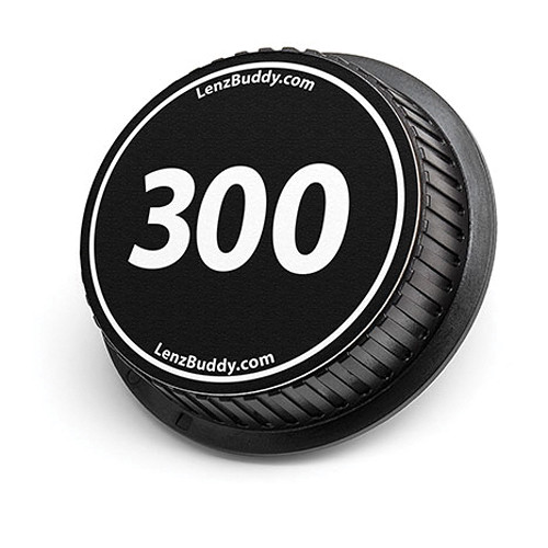 LenzBuddy 300mm Rear Lens Cap (Black & White)