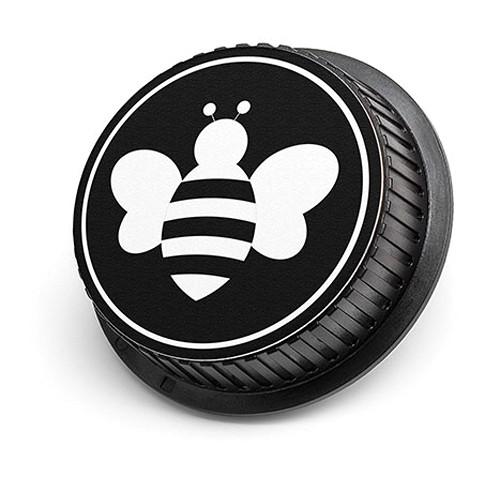 LenzBuddy Bumblebee Rear Lens Cap for Nikon Cameras (Black & White)